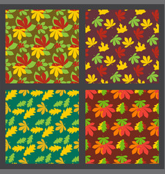 seamless pattern texture of maple leaves autumn vector image