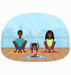 The black african family vector