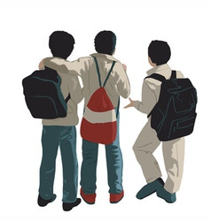 Three friends vector image vector image