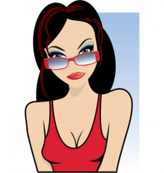 vacation girl vector image vector image