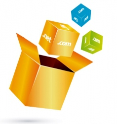 box cube vector image vector image