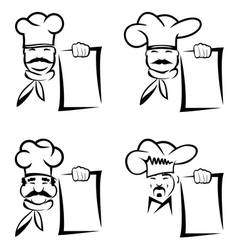 Chef collection vector image vector image