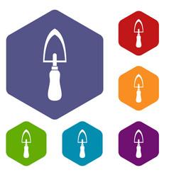 garden trowel icons set vector image