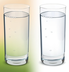 Glass with water isolated vector image