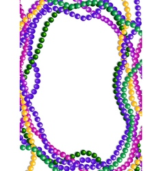 Mardi Gras Beads Background vector image vector image