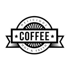 Vintage Coffee sign or logo vector image