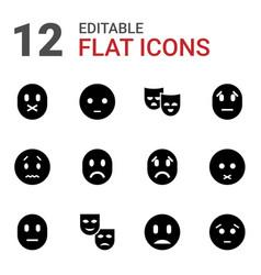 12 sadness icons vector
