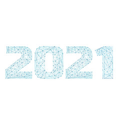 2021 year triangle 3d digital web banner vector image