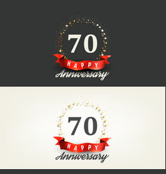 70 years happy anniversary banners vector