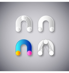 Abstract Combination of Letter N vector