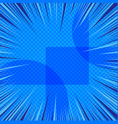 abstract comic blue background vector image