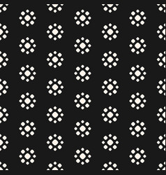 abstract dotted seamless floral pattern vector image