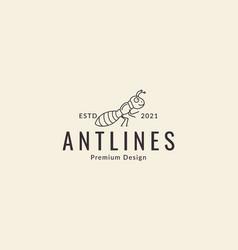 Animal insect ant cartoon lines walk logo design vector