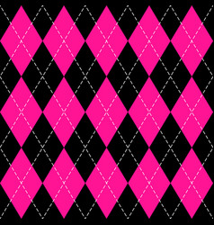 Argyle plaid in plastic pink colors vector
