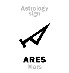 Astrology planet mars vector