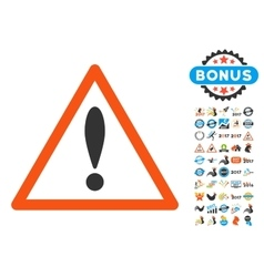 Attention Triangle Icon with 2017 Year Bonus vector