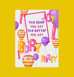 balloon font greeting card banner vector image