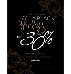 black friday advertising vector image