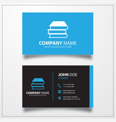 Book icon business card template vector