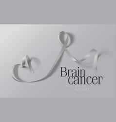 brain cancer awareness calligraphy poster design vector image