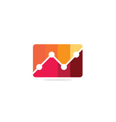 business chart analytic logo vector image