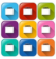 Buttons with shopping bags vector image