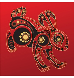 chinese horoscope year rabbit vector image