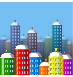 city buildings of spray paint vector image