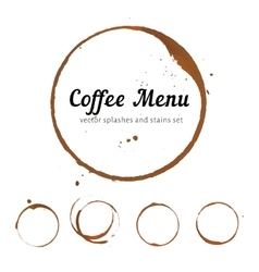Coffee stain circles vector image