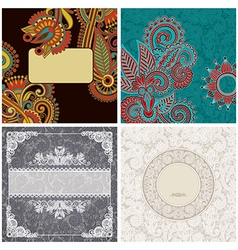 Collection vintage ornamental template vector