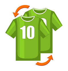 colorful cartoon soccer player replacement icon vector image
