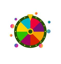 colorful flat fortune wheel icon random choice vector image