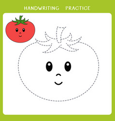 cute tomato for coloring book vector image