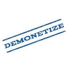 Demonetize Watermark Stamp vector image