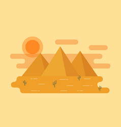 desert landscape in flat design vector image
