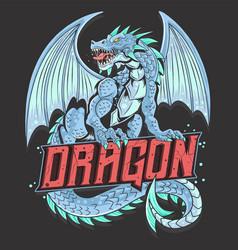 dragon full body vector image