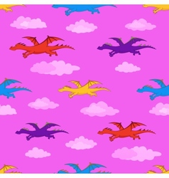 dragons Seamless background vector image