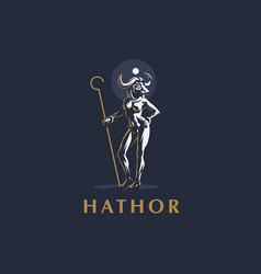 egyptian goddess hathor vector image