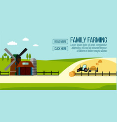 famaly farming banner vector image vector image