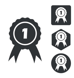 First place icon set monochrome vector image