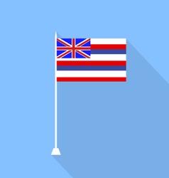 Flag of hawaii vector