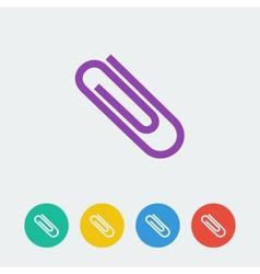 flat circle icon vector image