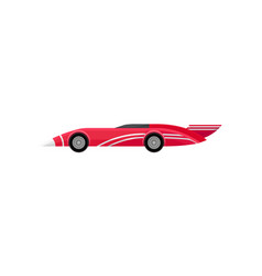 flat icon of bright red racing car with vector image