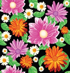 Flower bouqet pattern vector