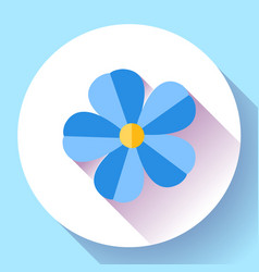 frangipani flower icon nature symbol - flower vector image