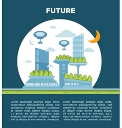 Future city landscape concept modern vector