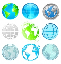 globe and earth set vector image