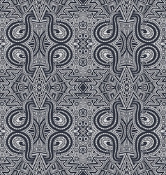 gray hand drawn psychedelic zentangle pattern vector image