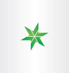 Green icon star design element vector