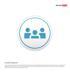 Group of people icon - white circle button vector